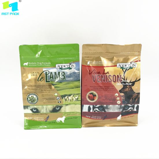 Compostable Packaging Biodegradable Zipper Dried Pet Food Bag