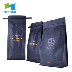 Wholesale High Quality Standing Biodegradable Customized Printed 250g 500g 1kg Flat Bottom Coffee Zipper Bag with Valve